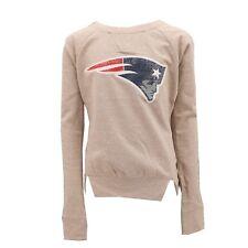 New England Patriots Official NFL Teen Apparel Girls Sequin Light Sweatshirt New