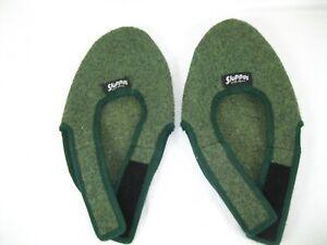 SLOPPAS Slip on  Slippers Unisex  Mens  Med. Women's LG  Green EUC!