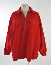 Vtg 90s MARLBORO Retro Red Corduroy Long Sleeve Pull Over Shirt Jacket Mens M