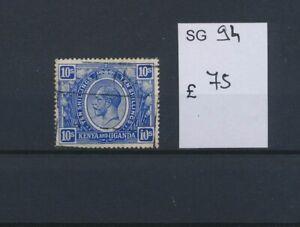 LO45175 Kenya Uganda king George V fine lot used cv 75 �