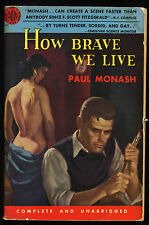 Vtg Pulp Book How Brace we Live by Paul Monash Avon Books 1952