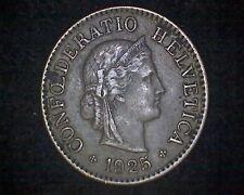 1925-B SWITZERLAND 5 RAPPEN KM#26