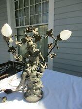 French Augusta Moreau Art Nouveau Lamp