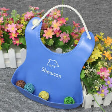 Silicone Baby Bib Waterproof Pinafore Imitation Pinafore Saliva Towel E7C