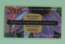 2005 Rockford Illinois Vehicle Parking Permit Registration License Decal Sticker
