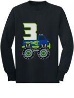 3rd Birthday Gift 3 Year Old Birthday Truck Toddler/Kids Long sleeve T-Shirt I'm