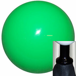 Neon Green shift knob kit fits non-threaded VW Audi 5 6 spd black U.S. MADE