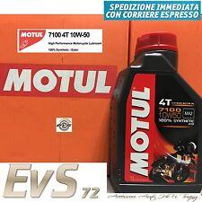 Motul 7100 10W50 4T MA2 Olio Motore Moto Alte Prestazioni 100% Sintetico ESTERE