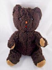 "Vintage Eden Brown Bear Plush Sits 14"" Tall Stuffed Animal"