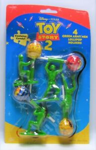 TOY Story 2 (4) Green Army Men Lollipop Holders Disney Pixar New In Package
