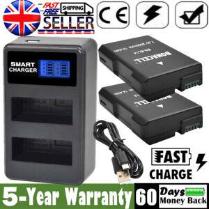 2X Battery + LCD DUAL Charger For Nikon EN-EL14 D3100 D3200 D5100 D5200 P7100 OF