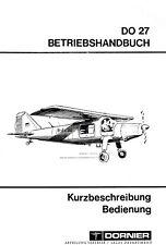DORNIER DO-27 -  BETRIEBSHANDBUCH IN GERMAN