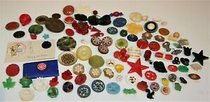 106 Plastic Bakelite Celluloid Sewing Buttons Weeber Novelty Collect Use Variety