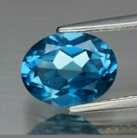 Topacio london blue 2.22 ct  9x7mm oval natural de Brasil  claridad vs!!