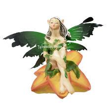 Flower Fairy Figurine Damsel Garden Statue Decor Ornament for Fairy Gardens