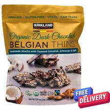 Belgian Organic Dark Chocolate Thins With Coconut & Almond, 500g Vegan Kosher