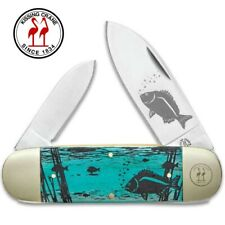 Kissing Crane Limited Edition Sunfish Folding Pocket Knife - Bone Handles