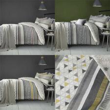 Fusion Retrace Stripe Print Reversible Duvet Cover Set