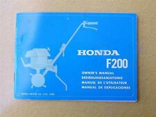 HONDA CULTIVATOR OWNERS OPERATORS MANUAL F200 HONDA MOTOR CO 1980