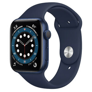 Apple Watch Series 6 GPS 44mm Blue Aluminum Case with Sports Band 2020 Agsbeagle