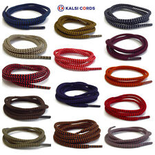 ROUND ROPE SHOELACES WITH FLECK FOR TRAINERS BOOTS HIKING STRONG SHOE LACES