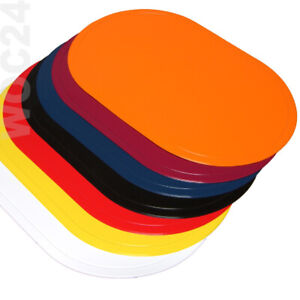 Platzdeckchen Tischset Platzset abwaschbar GELB-SCHWARZ-BLAU-ROT Kunststoff
