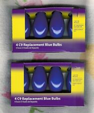 C9 BLUE REPLACEMENT BULBS ~ 8 CT ~120V ~ 7W ~ INDOOR~OUTDOOR ~ NEW ~LOW SHIPPING