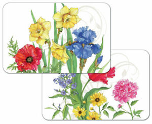 Beautiful New Placemats Help Refresh Your Room 4 Plastic Floral Garden Bouquet