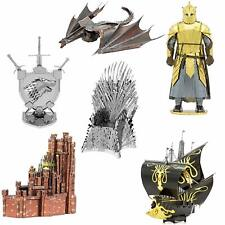 SET of 6 Fascinations Metal Earth ICONX Game of Thrones 3D Steel Metal Model Kit