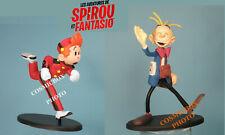 Lot 2 figurines SPIROU & FANTASIO sur socles figure gaston figurina figurilla