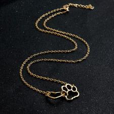 Halskette Pfote Herz Hund Katze Gold Damen Modeschmuck Kette Anhänger NEU