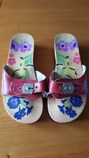 Gorgeous Dr. Scholl's Flowery Clogs/Mules - padded strap