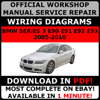 # OFFICIAL WORKSHOP Repair MANUAL for BMW SERIES 3 E90 E91 E92 E93 2005-2010 #