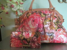 Brahmin Louis Rose Hemingway handbag/shoulderbag and matching wallet