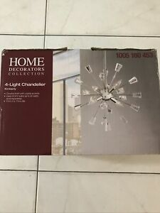 Home Decorators Collection 4- Light Chandelier Kimberly Chrome Finish