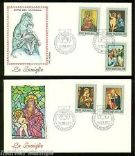 VATICAN CITY 1971 THE FAMILY ON ROMA CACHETED FIRST DAY COVERS