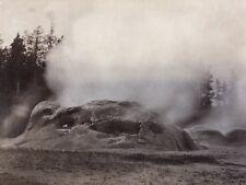 W H Jackson 1871 Photograph Yellowstone Grotto Geyser