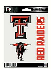 Texas Tech Red Raiders Triple Spirit Stickers / Decals 3 Pack *Free Shipping