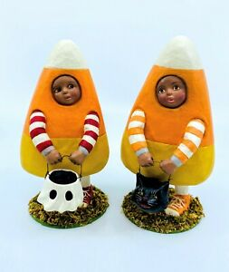 Bethany Lowe Designs: Halloween; Candy Corn Max & Candy Corn Drew, Set of 2