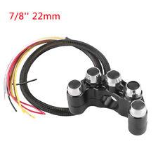 "22mm 7/8"" Motorcycle CNC Handlebar Switch Headlight Fog Spot Light On Off Black"