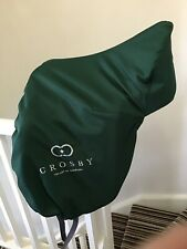 Green Lined Waterproof Crosby Dressage Saddle Cover