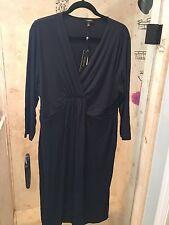 $129 Talbots XL NWT Navy Blue Sleeveless V-Neck Empire Waist Long  Maxi  Dress