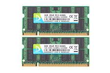 2x 1GB Kit DDR2 SDRAM PC2-4200 533mhz 200pin CL4 SODIMM Laptop Memory D DUOMEIQI