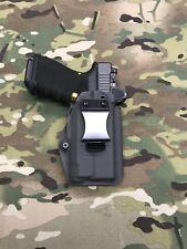 Armor Gray Kydex IWB Holster for Glock 19 23 Threaded Barrel RMR Cut APLc