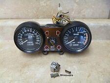 Yamaha TX500 Speedometer Tach Gauges Ignition Switch Cap Lock & Key 1974 YB30