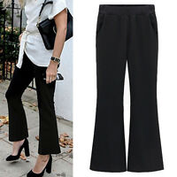 New Women Ladies Casual Flared Pants Trousers AU Size 10 12 14 16 18 20 22 #5198