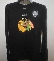 NHL Chicago Blackhawks Long Sleeve Hockey Shirt New Mens Sizes