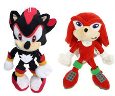 2pcs Shadow Red Sonic The Hedgehog Tails Knuckles Plush Doll Figure Soft Toy