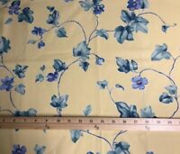 XL FQ Waverly Ivy Twirl Chambray Summer Garden Group Cotton Fabric XL FQ