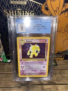 🔥Mint CGC 9 1ST EDITION Hypno #8/62 Fossil Holo Rare Pokemon Card PSA🔥